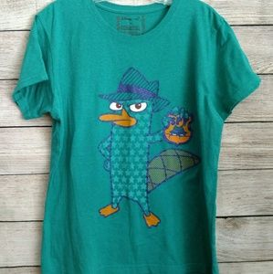 Disney's Perry the Platypus teal women's shirt XL